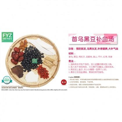 FYZ Herbs Shou Wu Black Bean Soup Pack 首乌黑豆补血汤